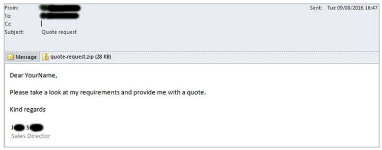 Ransomware E-Mail